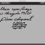 PM2D3D -- pismo odręczne!