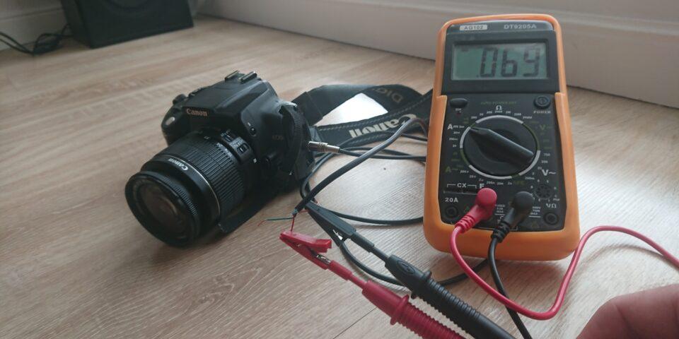 Canon EOS sterowany Arduino