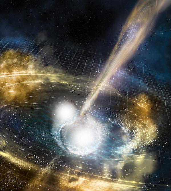 Fale grawitacyjne z układu podwójnego gwiazd neutronowych